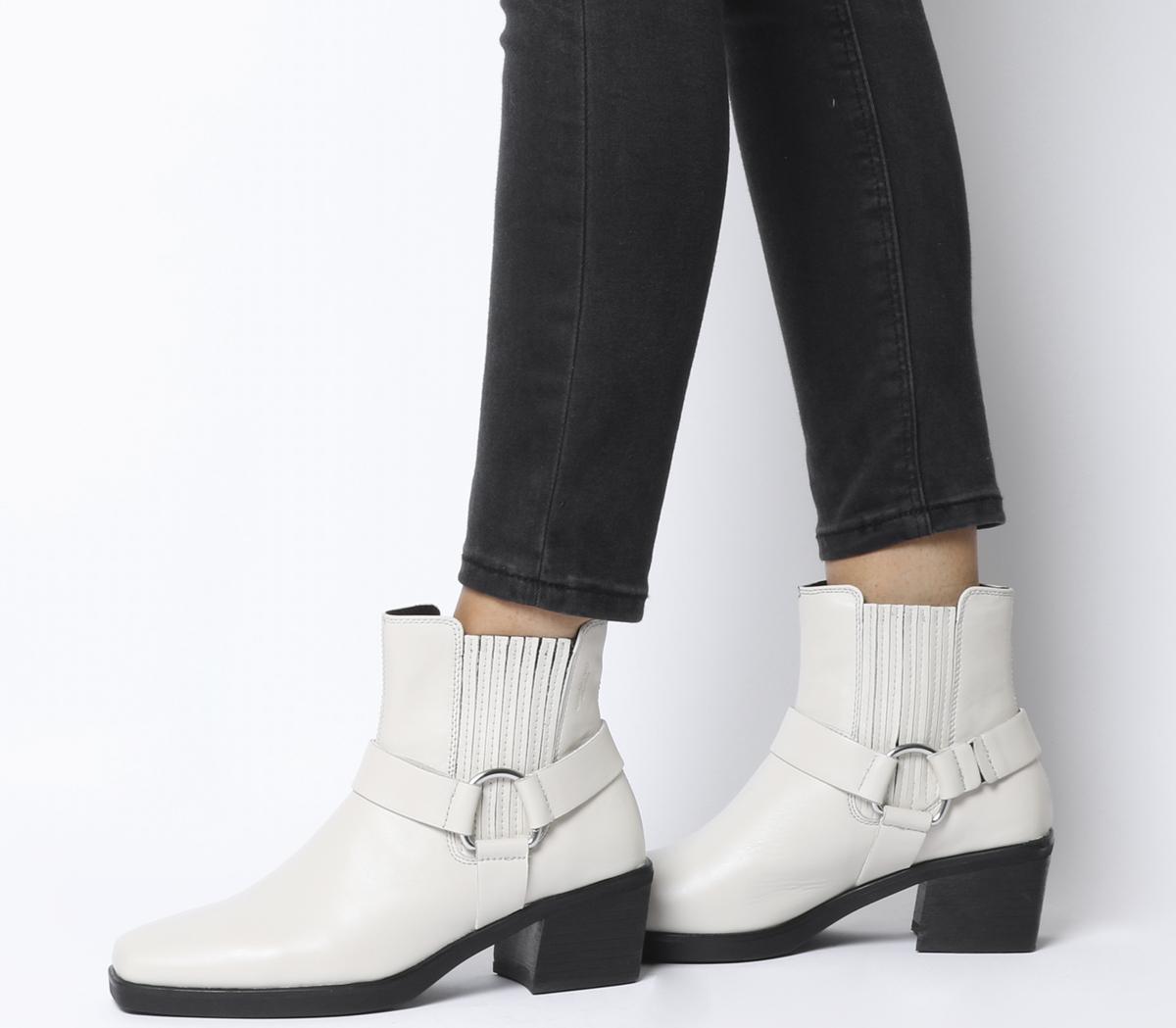 083b640db3b Sentinel Womens Vagabond Simone Harness Boots Off White Leather Boots
