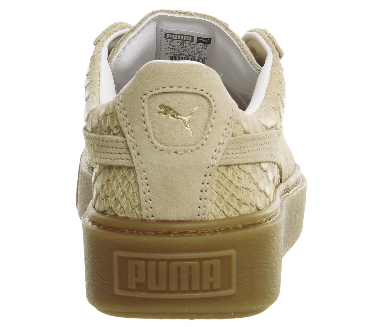 Sentinel Womens Puma Suede Platform NATURAL EXOTICS Trainers Shoes a4ea74c73