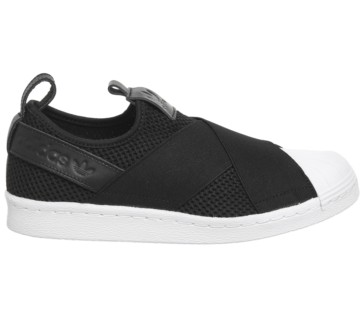 cf3f9ae0d73f Mens Adidas Superstar Slip On CORE BLACK WHITE Trainers Shoes ...