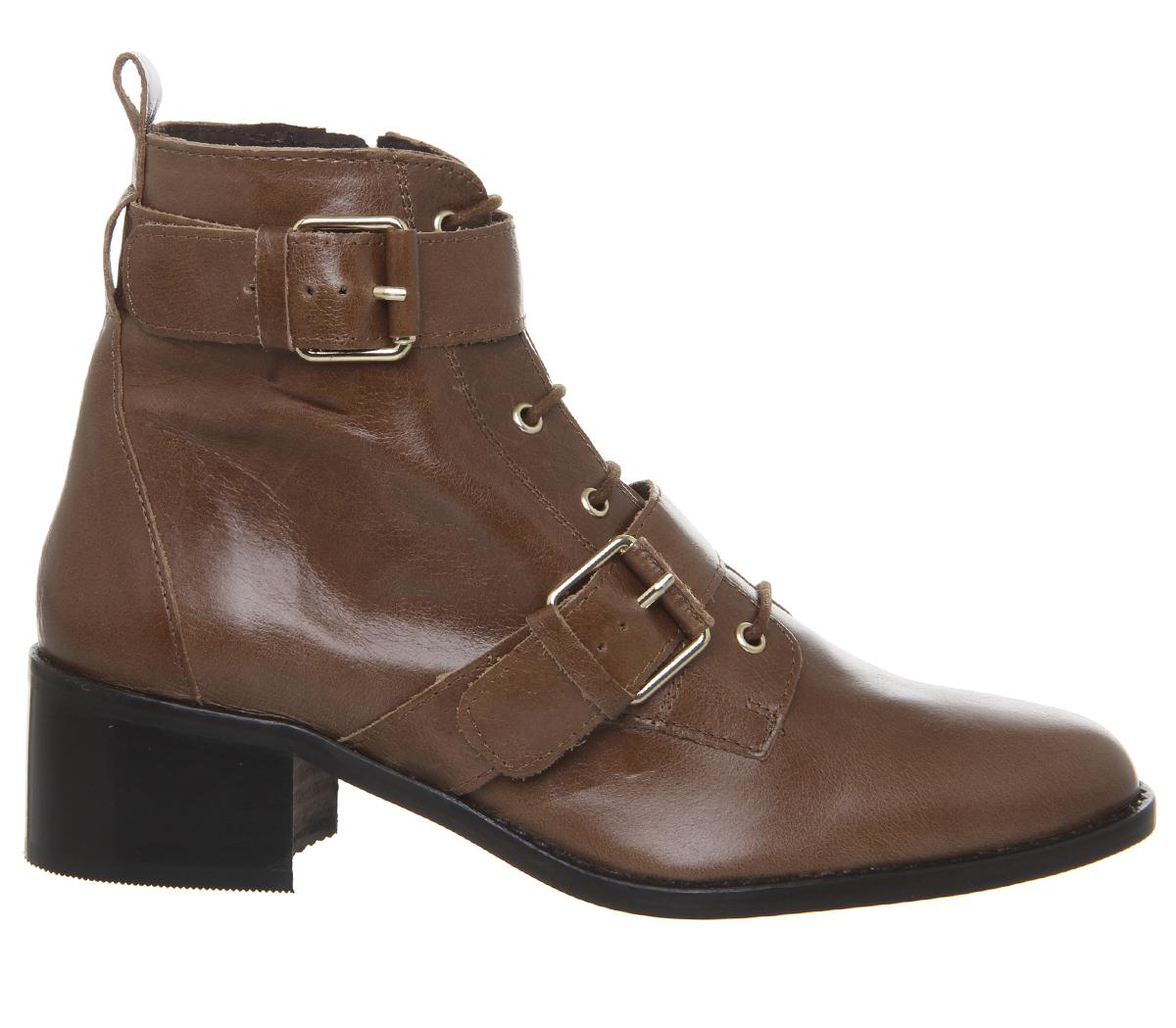 SENTINEL Womens Office aspetto Lacci Casual stivali stivali di cuoio  marrone chiaro 539a278905d