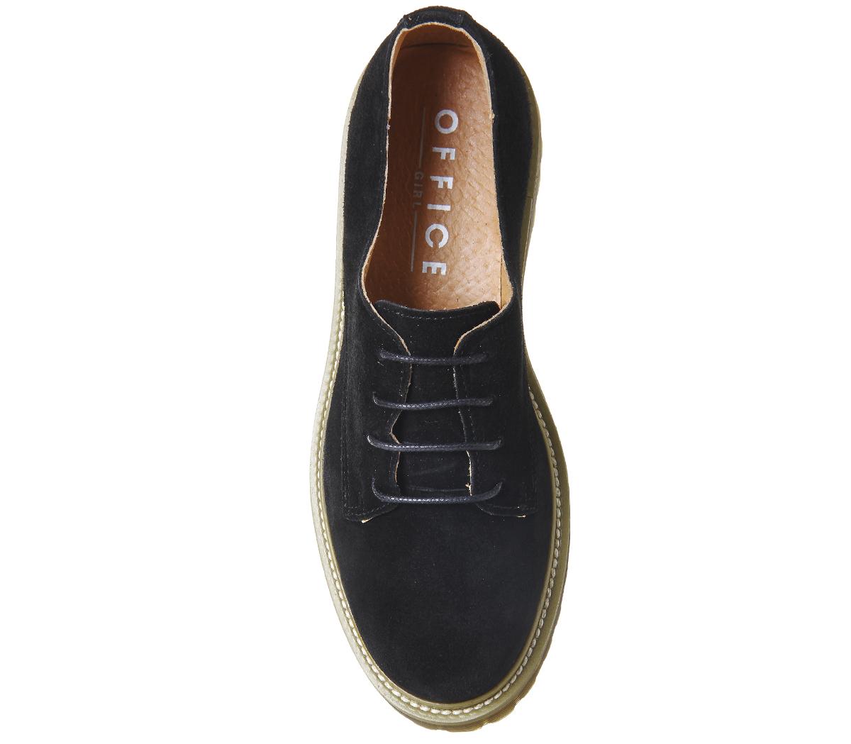 Damenschuhe Damenschuhe Damenschuhe Office Force Lace Up Flats BLACK SUEDE Flats c5c827