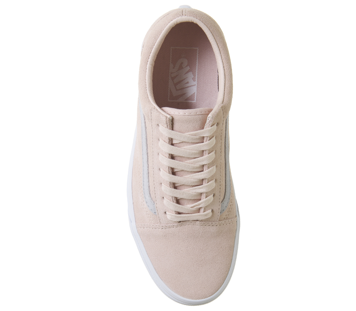 00614cc9384f3c Mens Vans Old Skool Trainers PALE PINK GREY EXCLUSIVE Trainers Shoes ...