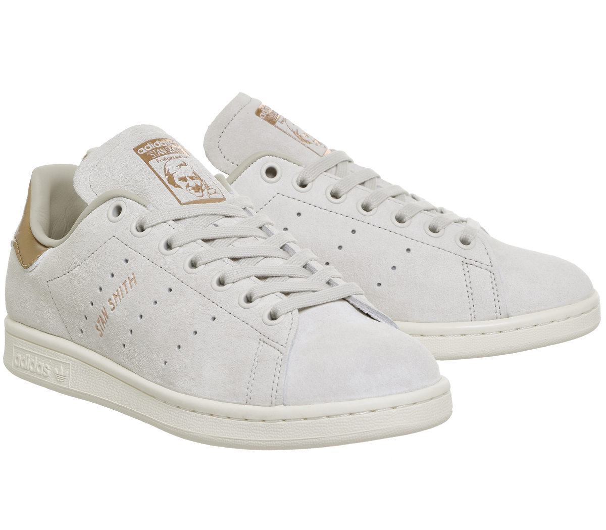 fa32edb0f431 Womens Adidas Stan Smith Trainers OFF WHITE COPPER Trainers Shoes