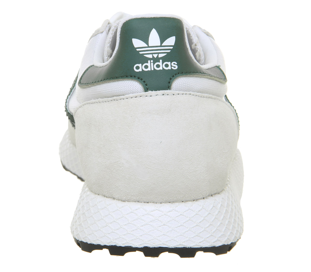 Womens Adidas Forest Grove Trainers Crystal White Collegiate Green ... 735339c75