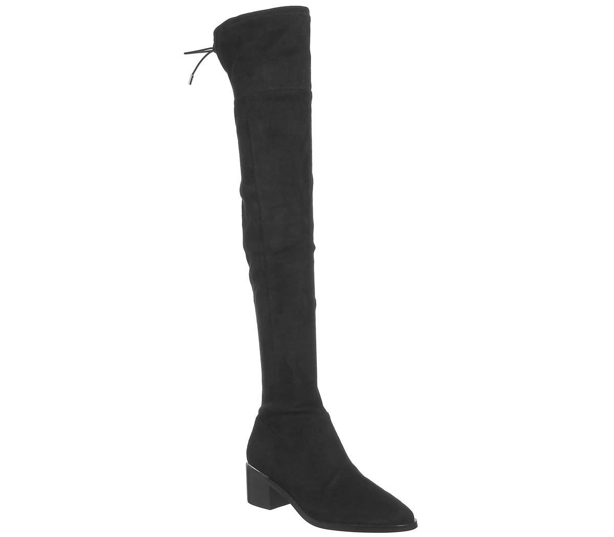 aabf970b CENTINELA Las mujeres oficina Krow sobre la rodilla Botas de negro