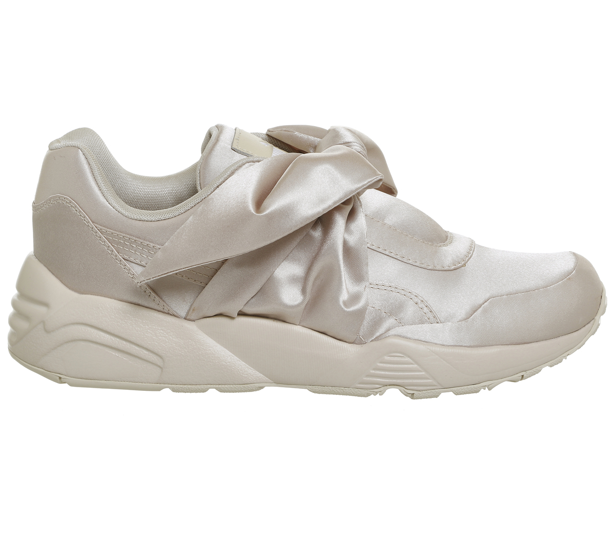 Sentinel Womens Puma R698 Trainers CREAM SATIN Trainers Shoes