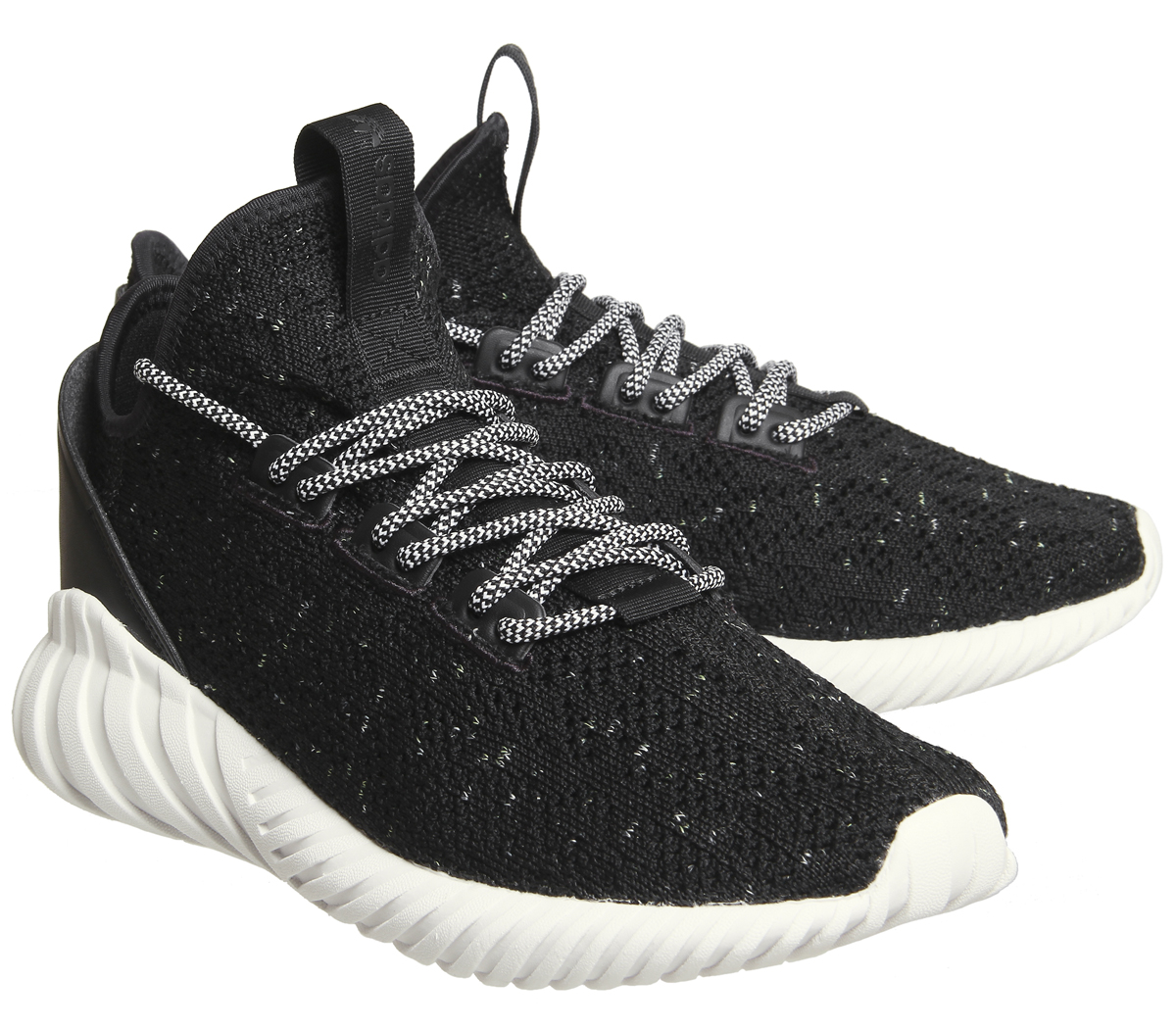timeless design db25a 647d1 Details about Mens Adidas Tubular Doom Sock Black White Trainers Shoes