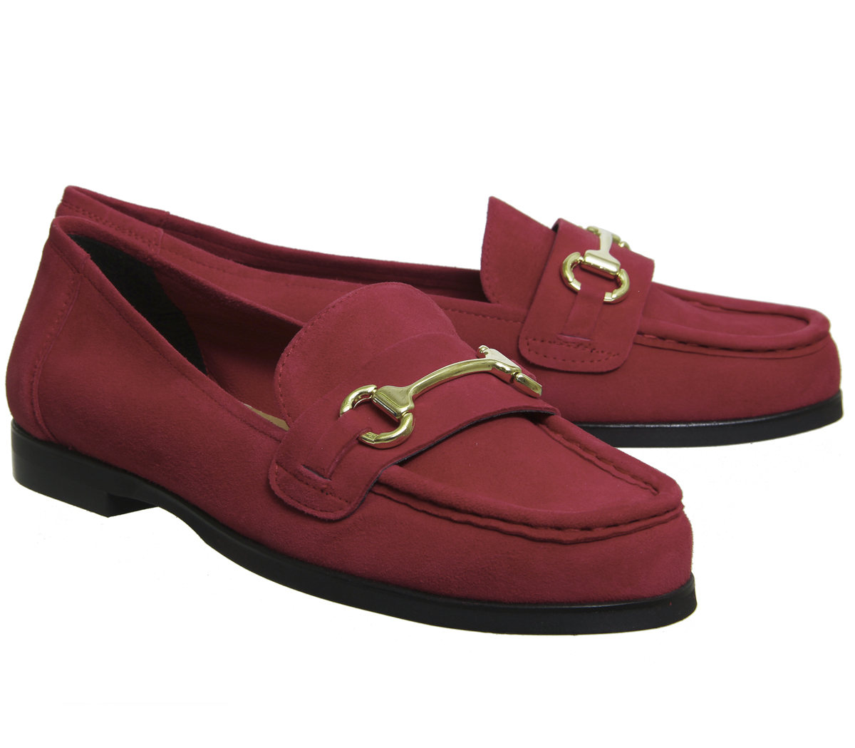 Office in Fate rosso suede Womens Mocassini Flats zxqz0d
