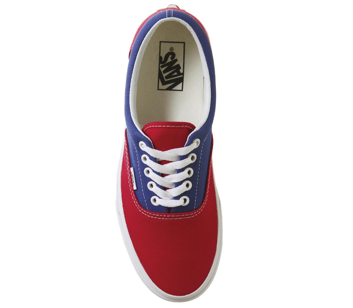 Blau Uomo Vans Era Trainers TRUE Blau  ROT CHECKER Trainers Schuhes dd6451