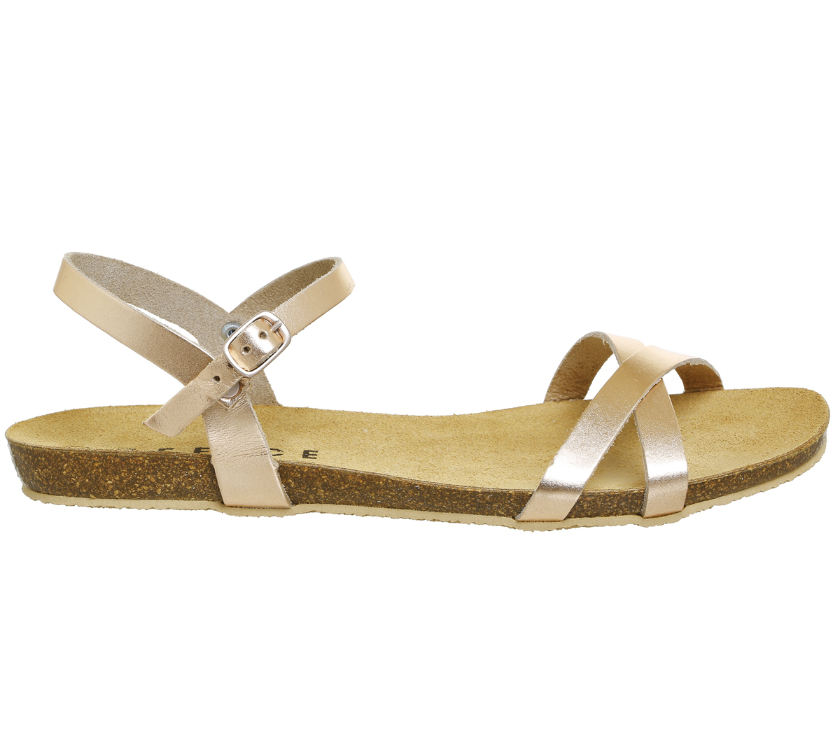 72320904ffb0 Womens office bronze leather buckle sandals uk size ex display ebay jpg  1200x1049 Sandals for office