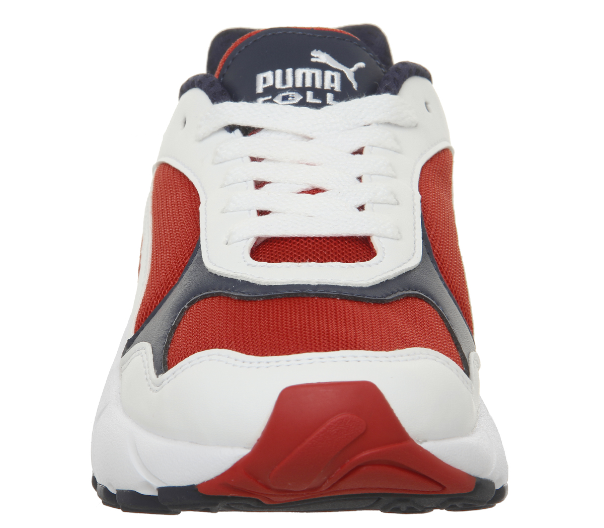 Homme-Puma-Cell-Viper-Baskets-PUMA-blanc-Risque-Eleve-Rouge-Baskets miniature 4