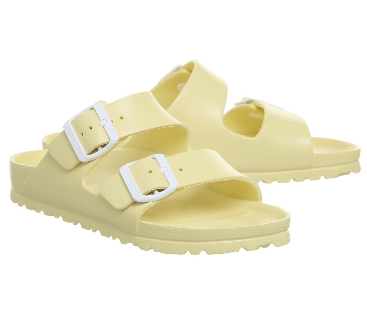 SENTINEL Womens Birkenstock Arizona due sandali con cinturino morbido  giallo Sandali EVA ed2d359694a