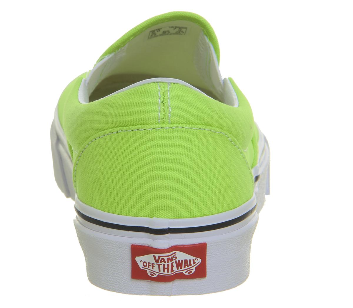 da95e8763606 Womens Vans Vans Classic Slip On Trainers Jasmine Green Trainers ...