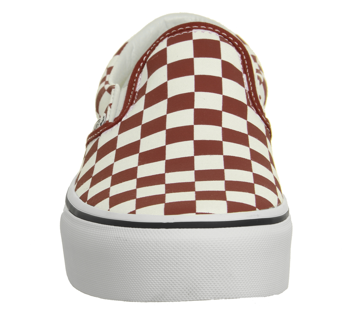 3bf29abc48 Womens Vans Classic Slip On Platform Trainers Red White Checkerboard ...