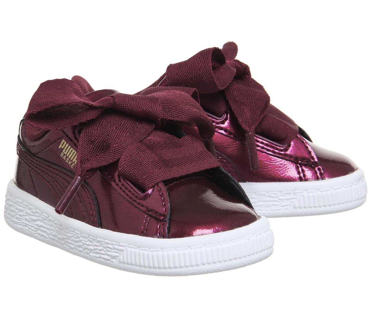 puma heart basket burgundy