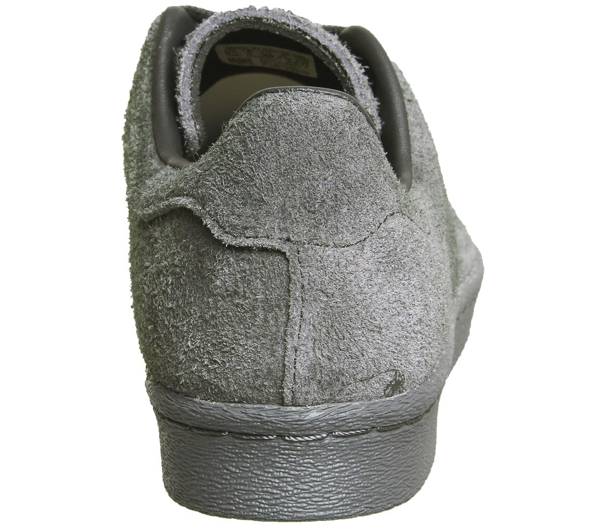 Adidas Uomini Superstar Degli Anni '80 Uomini Adidas Originali Pulito Merletto Formatori In Grigio 25b540