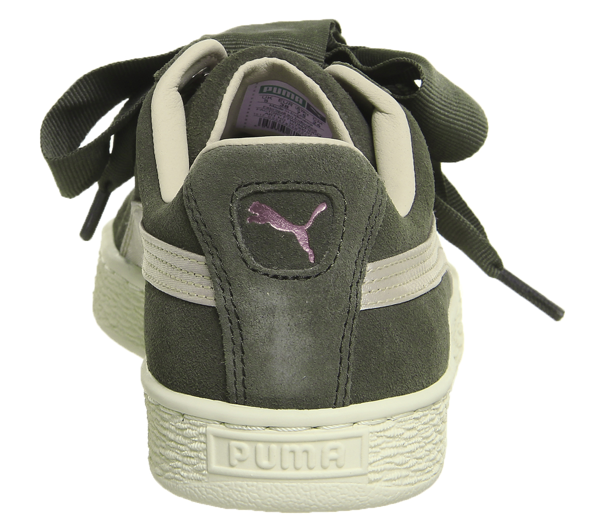 74f7f709f Womens Puma Suede Heart Trainers Olive Night Pink Tint Rose Gold ...