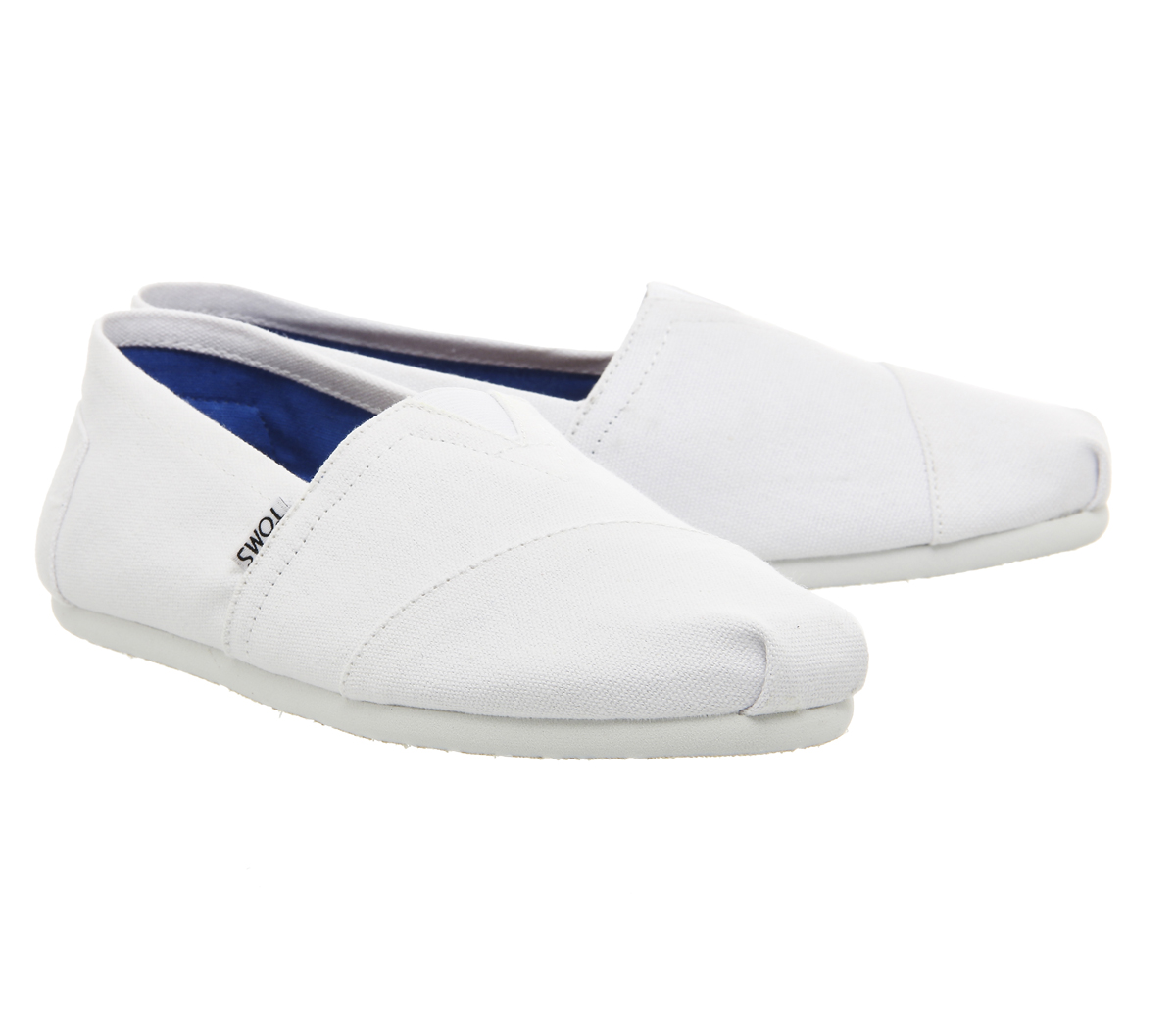 8f0136b938c Sentinel Mens Toms Classic Slip Ons Optical White Canvas Casual Shoes