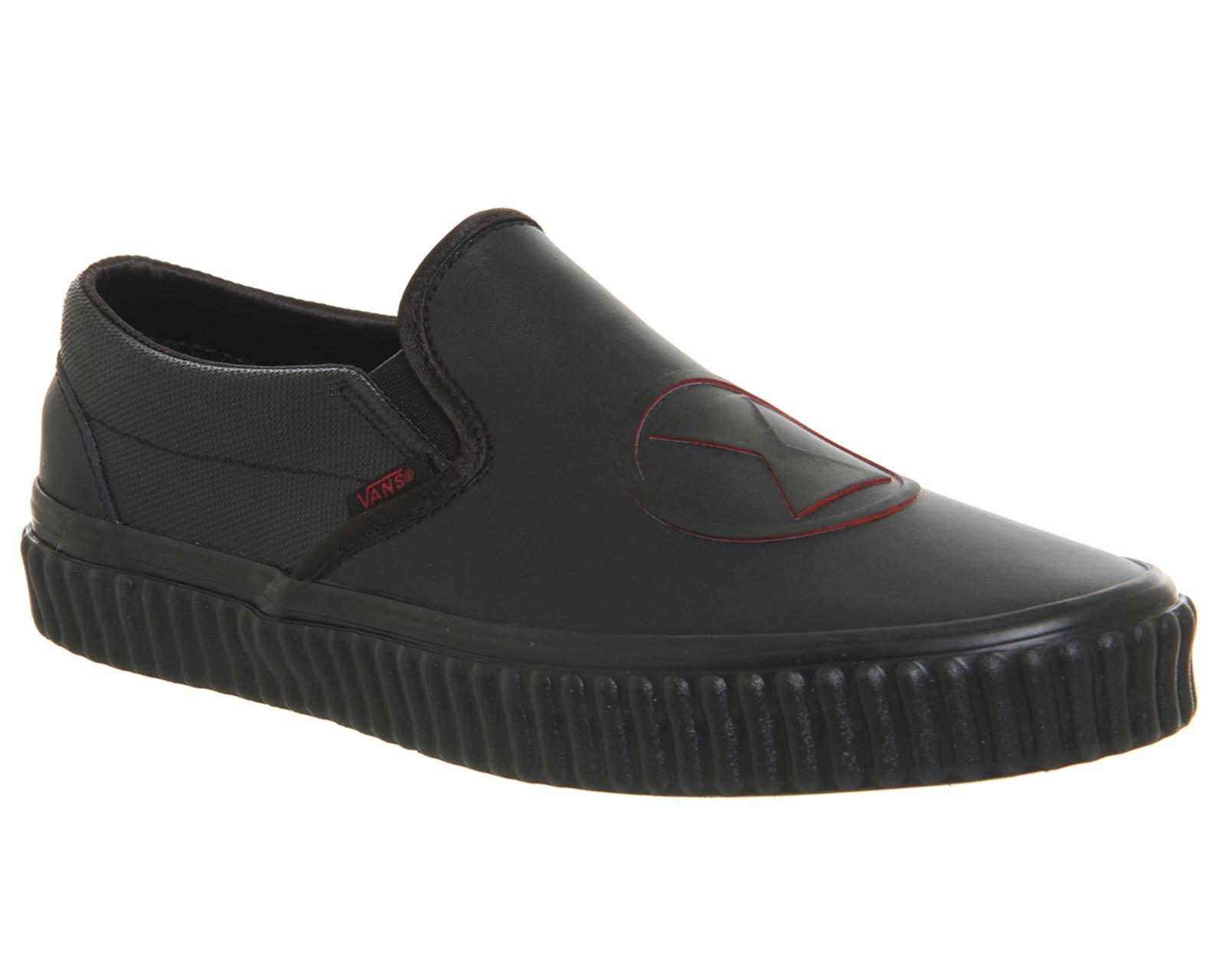 e3d429683f Details about Mens Vans Vans Classic Slip Ons BLACK WIDOW MARVEL Trainers  Shoes
