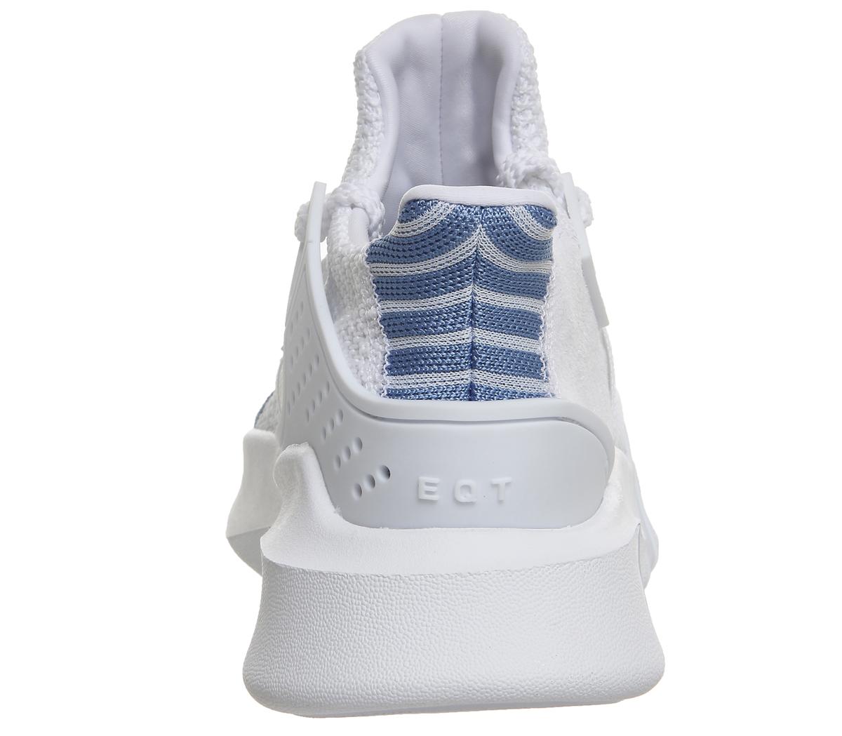 le adidas originali eqt piu 'avanzata w merletto formatori in bianco unito