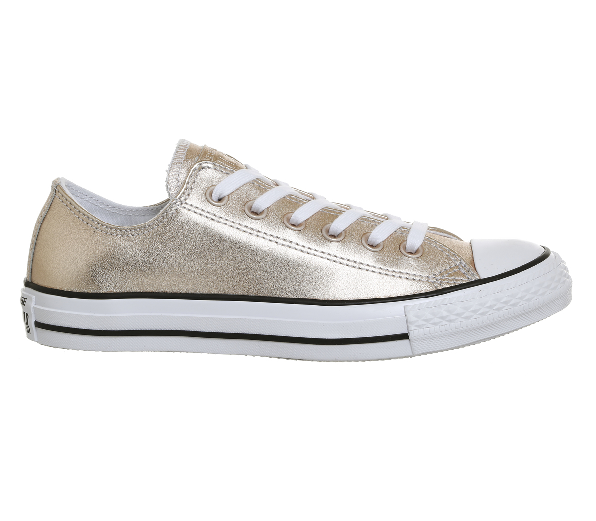 30fbc35a69f9 Sentinel Womens Converse All Star Low Leather Trainers Blush Gold Trainers  Shoes