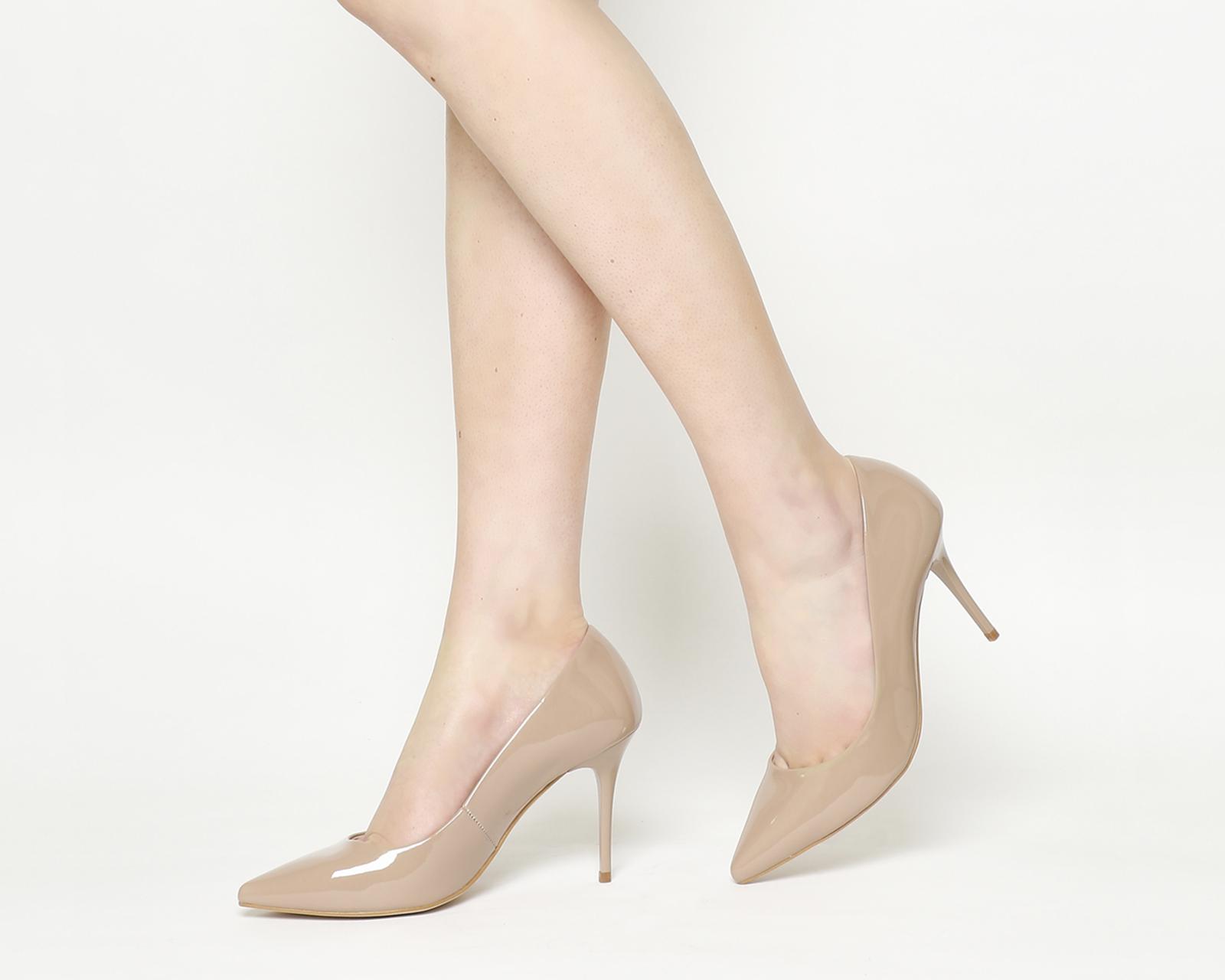 5cb88309e29 Sentinel Womens Office Graduate Point Court Heels Nude Patent Heels