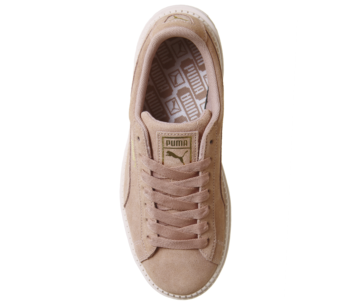 346ce34bcf0c Womens Puma Suede Platform Trace Trainers PEACH BEIGE PEARL Trainers ...