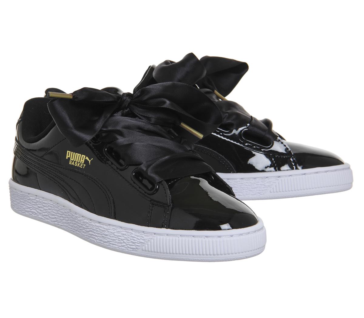 puma basket schwarz lack