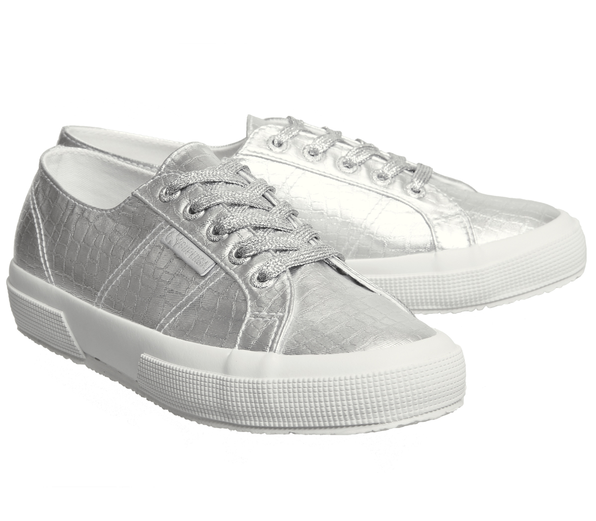1677d1e97659 Womens-Superga-2750-Trainers-Silver-Embossed-Trainers-Shoes thumbnail