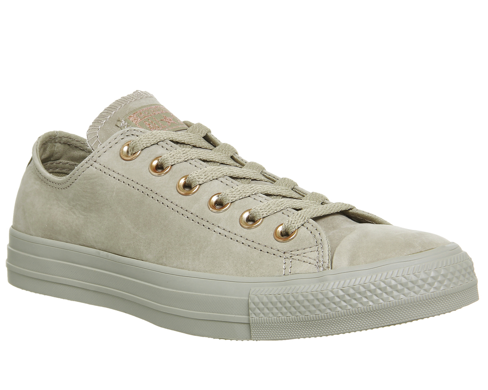 2ad3fa28c6f1fe ... coupon sentinel womens converse all star low leather khaki rose gold  exclusive trainers shoes 7ef2e 3d57b