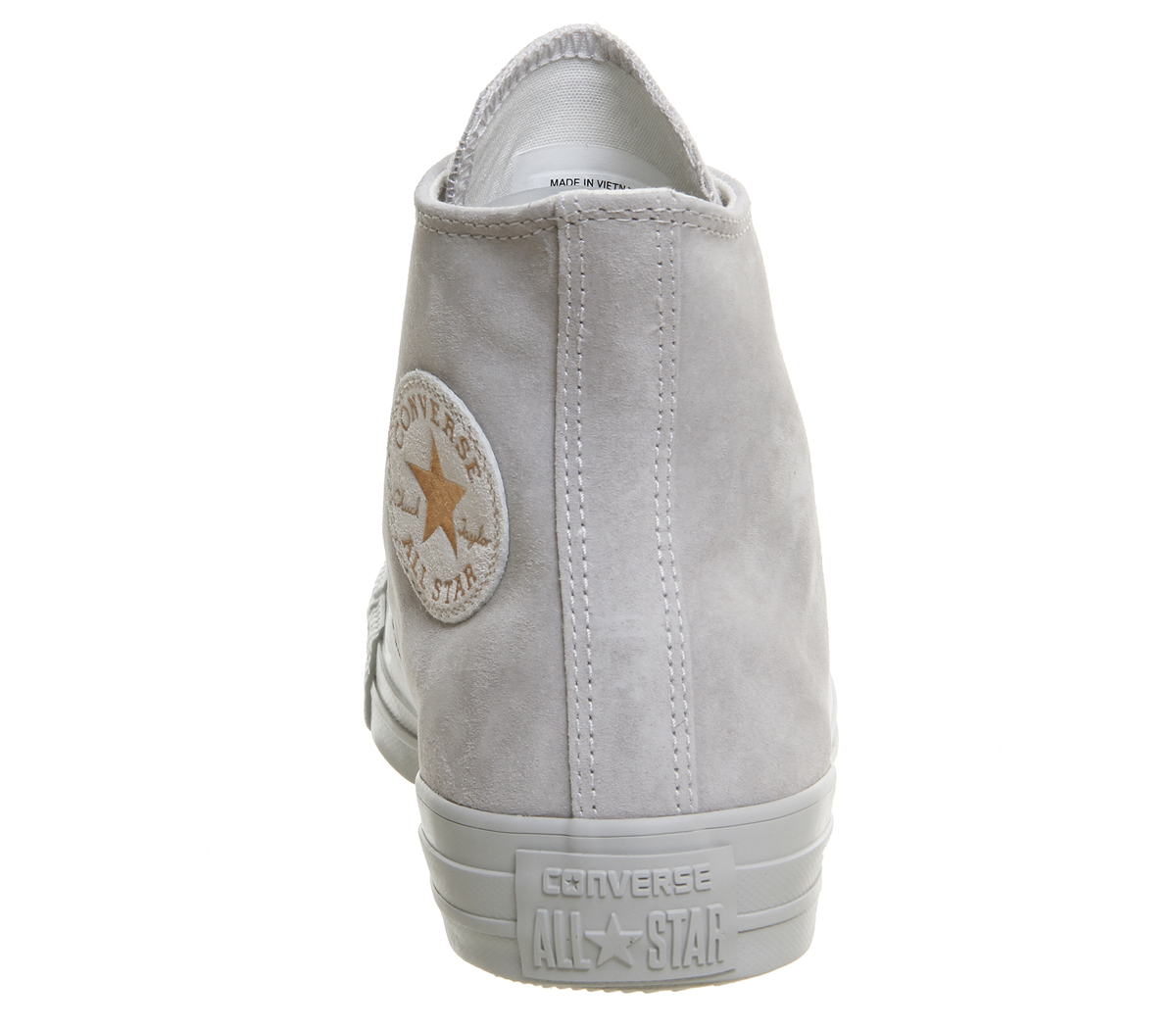 f1e98753fd3a Womens Converse All Star Hi Leather ASH GREY ROSE GOLD Trainers ...