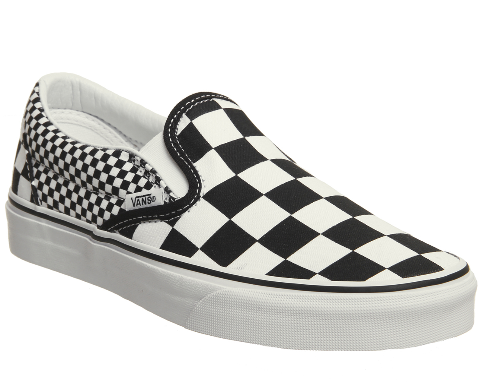 dbd5824d2f7 Sentinel Vans Vans Classic Slip On Trainers Black White Mix Check Trainers  Shoes