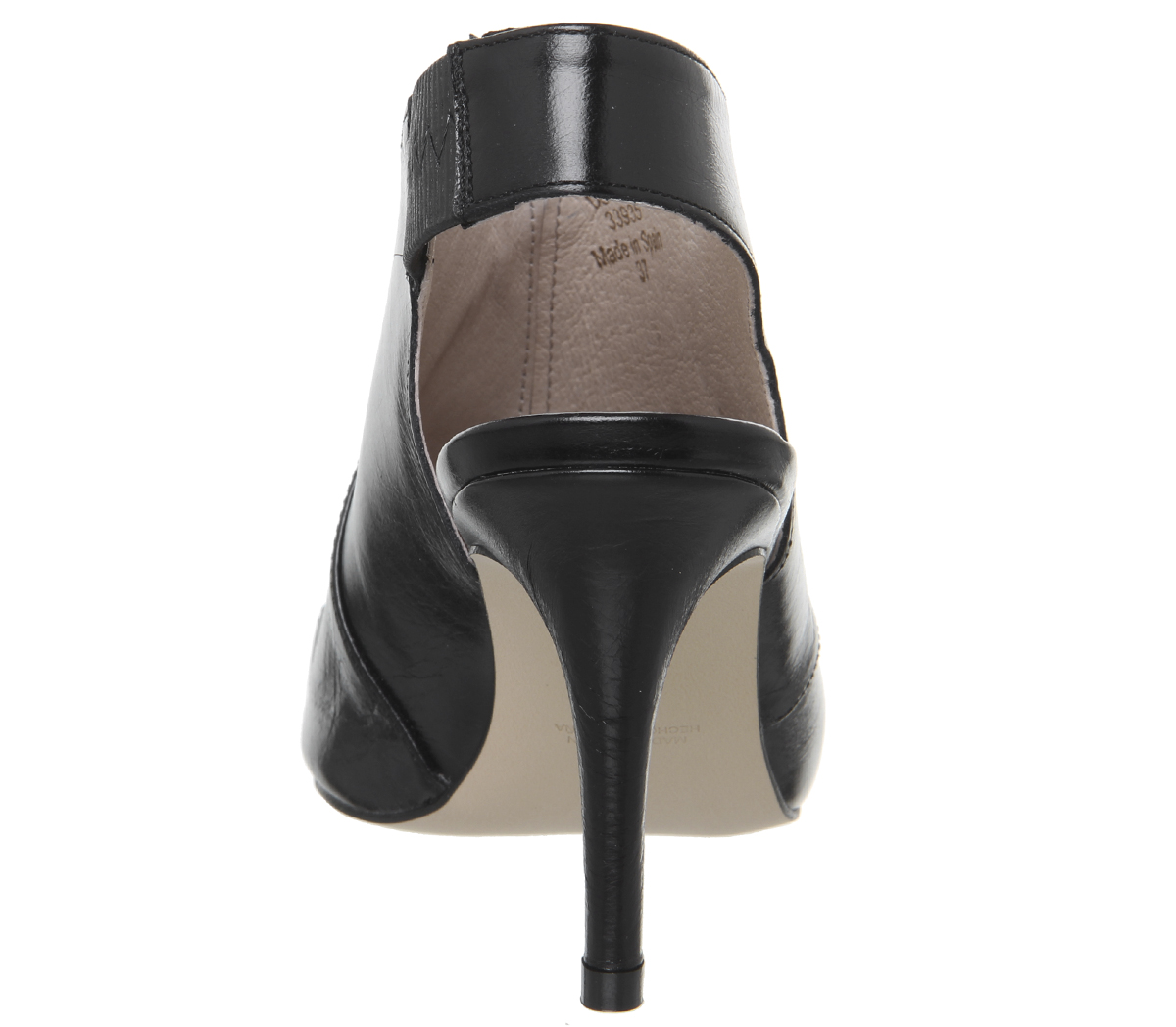 Strap Scarpe da Grouco nero con da donna ufficio tacco Scarpe Cross pelle Moon in Aq0YqR
