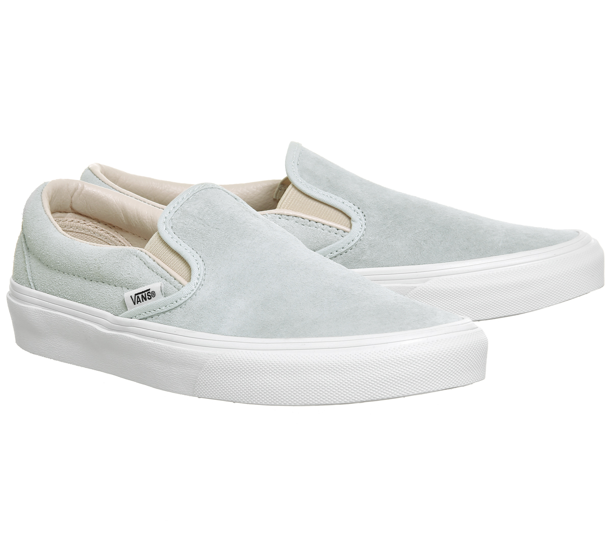 Damenschuhe Vans Vans Classic Slip On Trainers ILLUSION BLUE SILVER PEONY EXCLUSIVE T