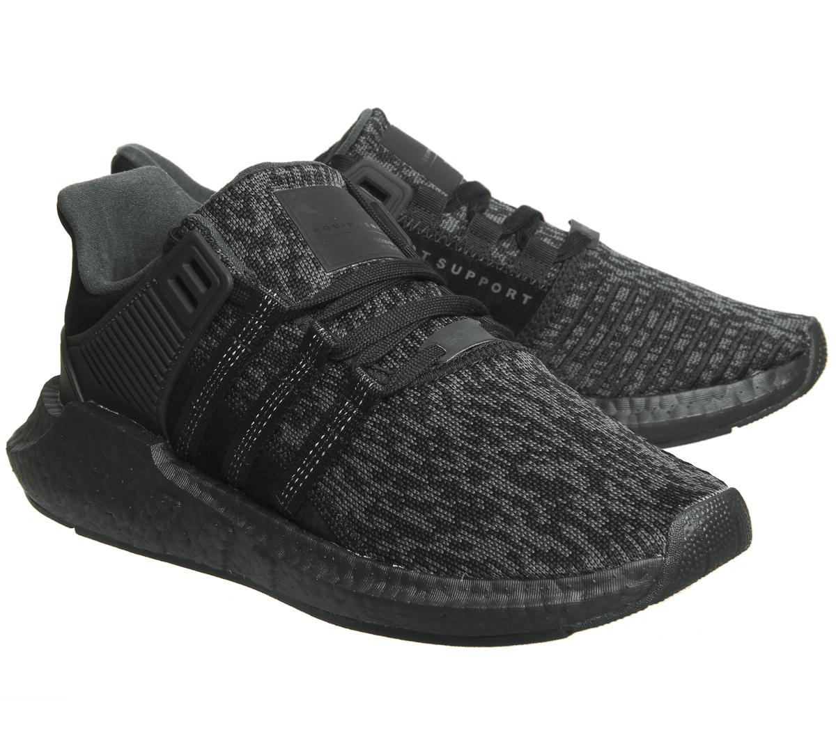 wholesale dealer 5ea06 e0172 Adidas-Eqt-Support-93-17-BLACK-MONO-Trainers-