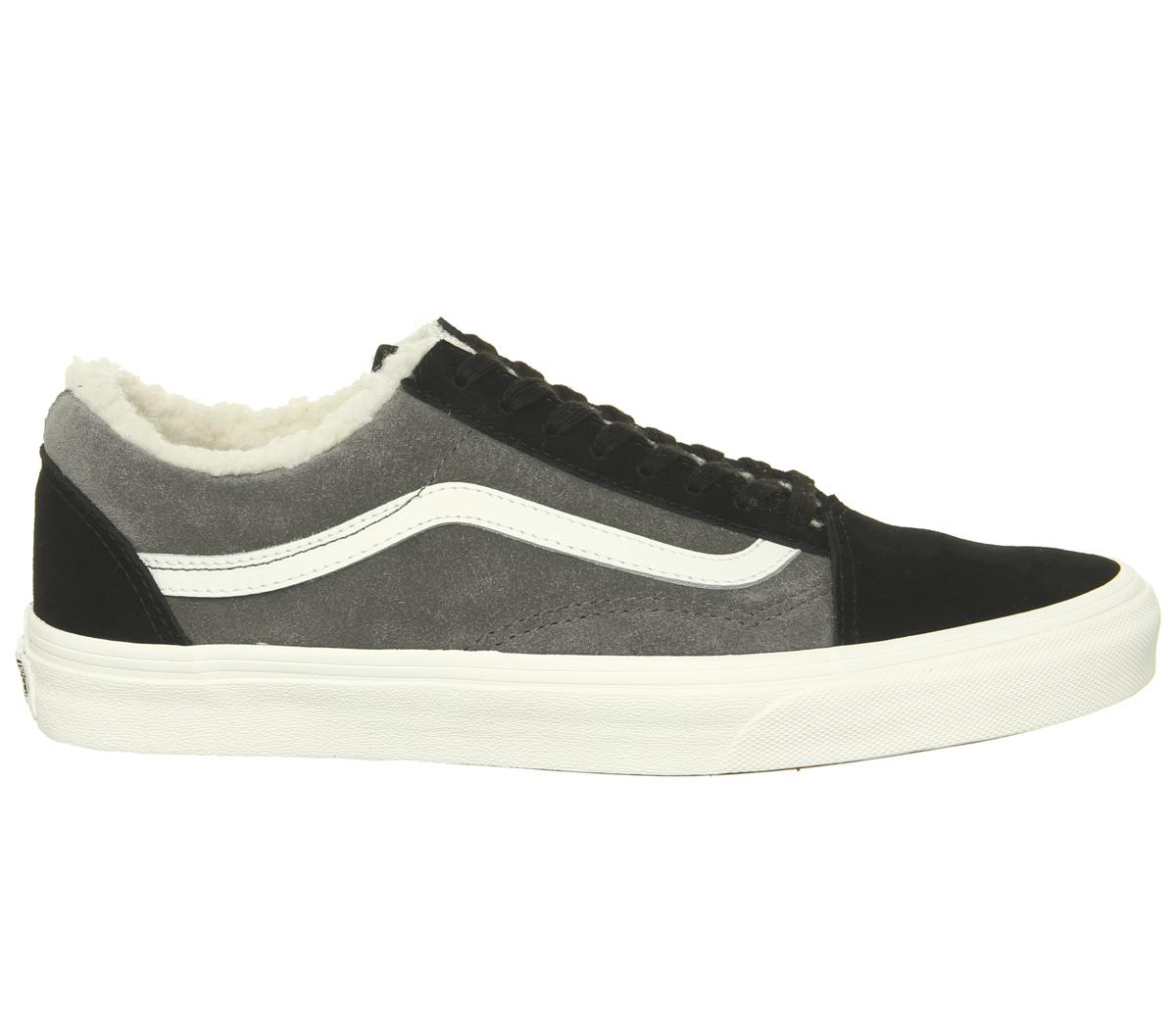 35d747c4b3e50 SENTINEL Mens Vans Old Skool formatori peltro SHERPA formatori scarpe nere