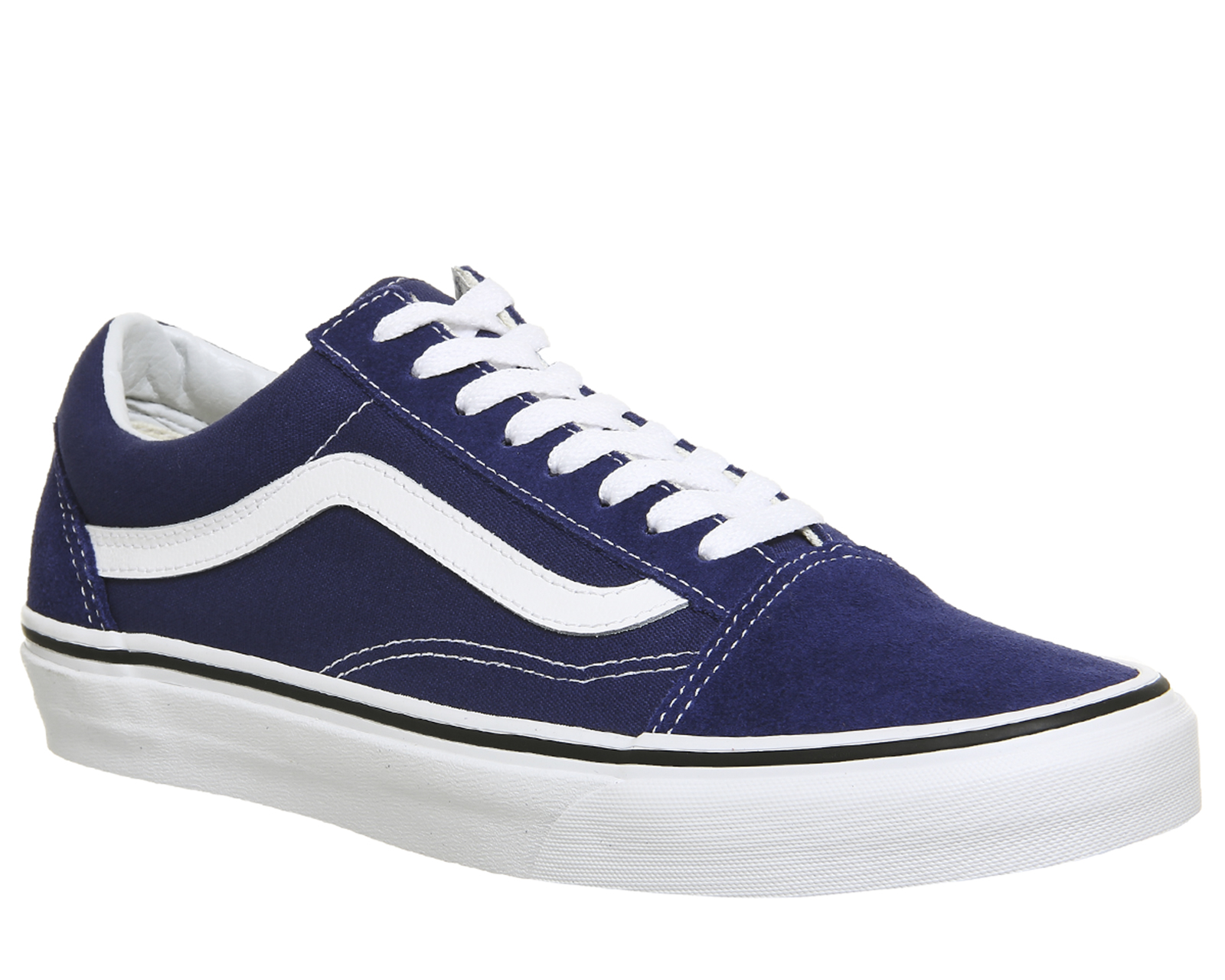 18a7318a62e2 Sentinel Mens Vans Old Skool Trainers ESTATE BLUE TRUE WHITE Trainers Shoes