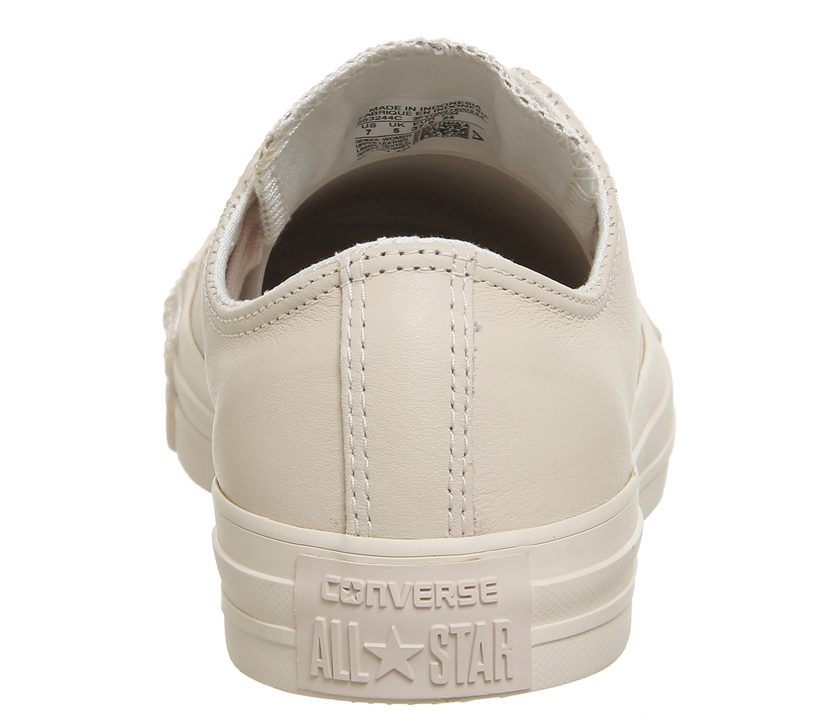 67fa2e830dab Sentinel Womens Converse All Star Low Leather Pastel Rose Tan Rose Gold  Trainers Shoes