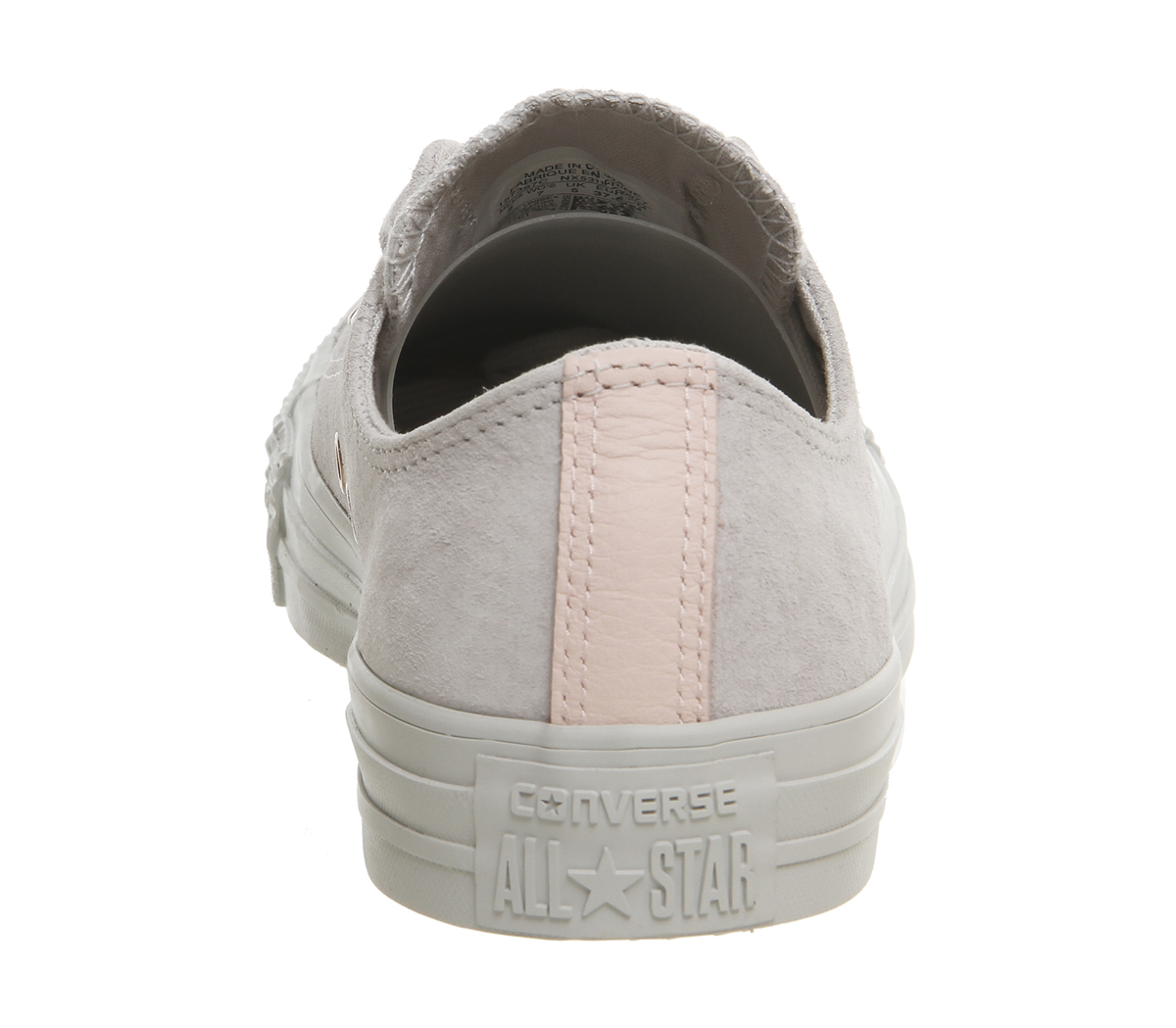 20c5b0af97dd1e Sentinel Womens Converse All Star Low Leather Trainers MOUSE VAPOUR PINK  EXCLUSIVE Traine