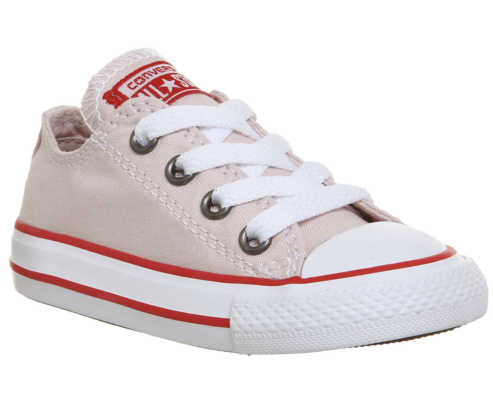 ad5a095b6f72 Sentinel Kids Converse All Star Low Infant Trainers BARELY ROSE ENAMEL RED  Kids