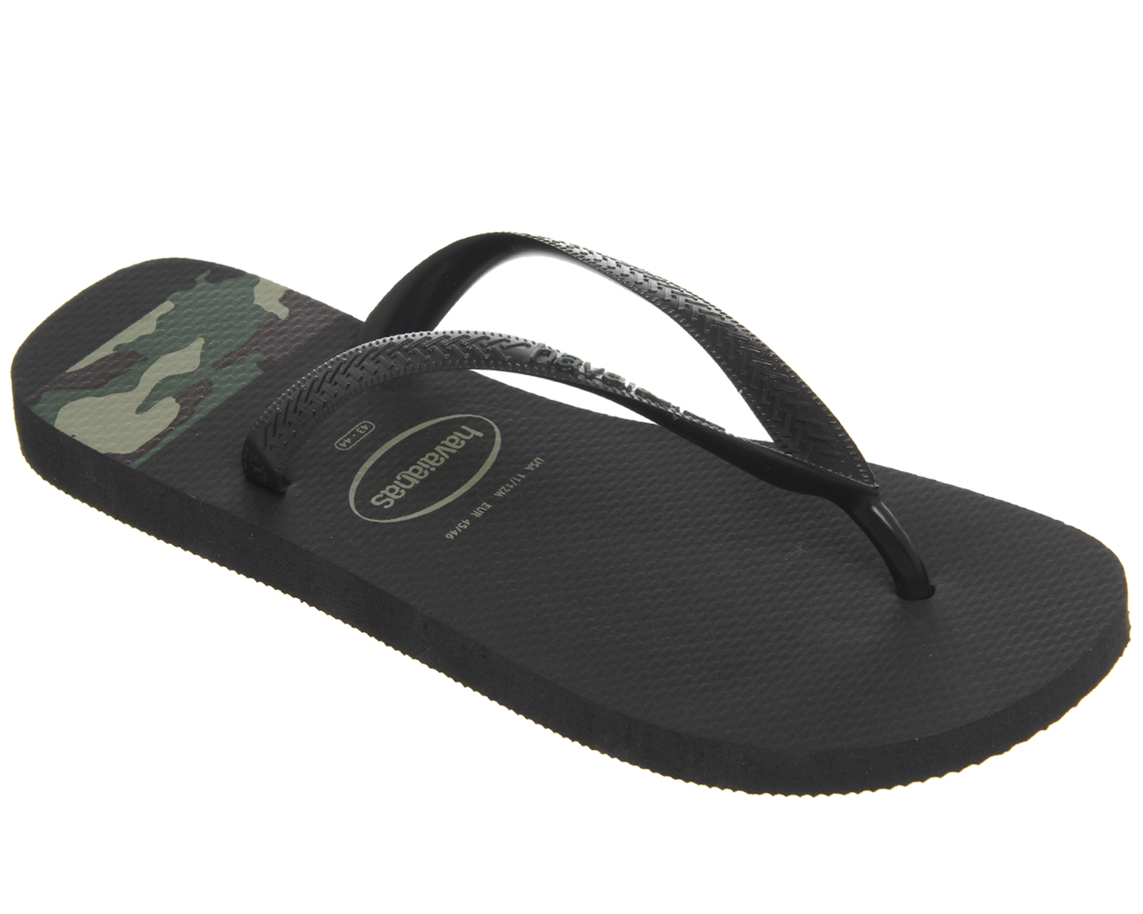657702c99b0 Sentinel Mens Havaianas Top Stripes Logo Black Camo Sandals