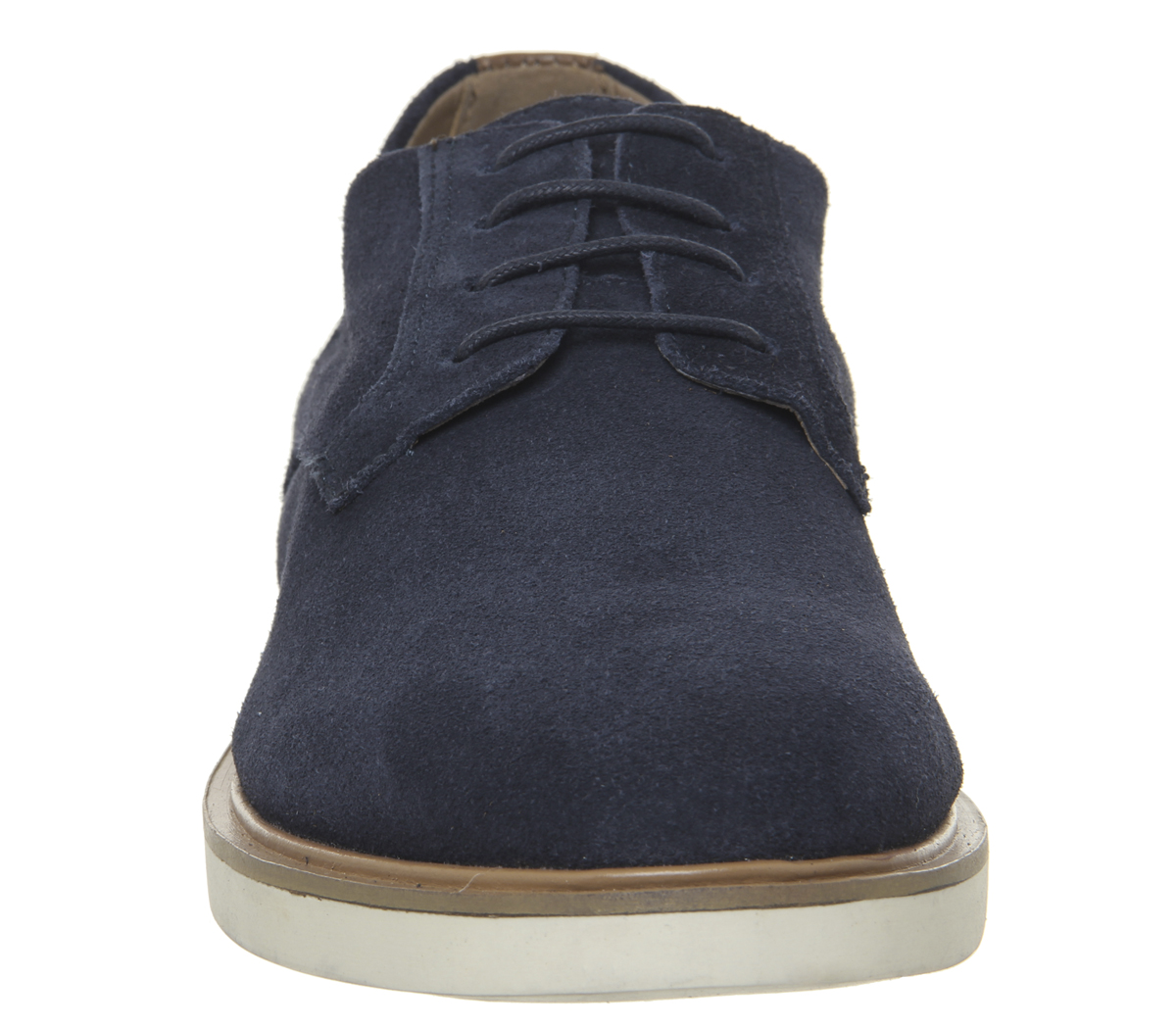 Mens-Office-Item-Derby-Shoes-Navy-Suede-Casual-Shoes thumbnail 5