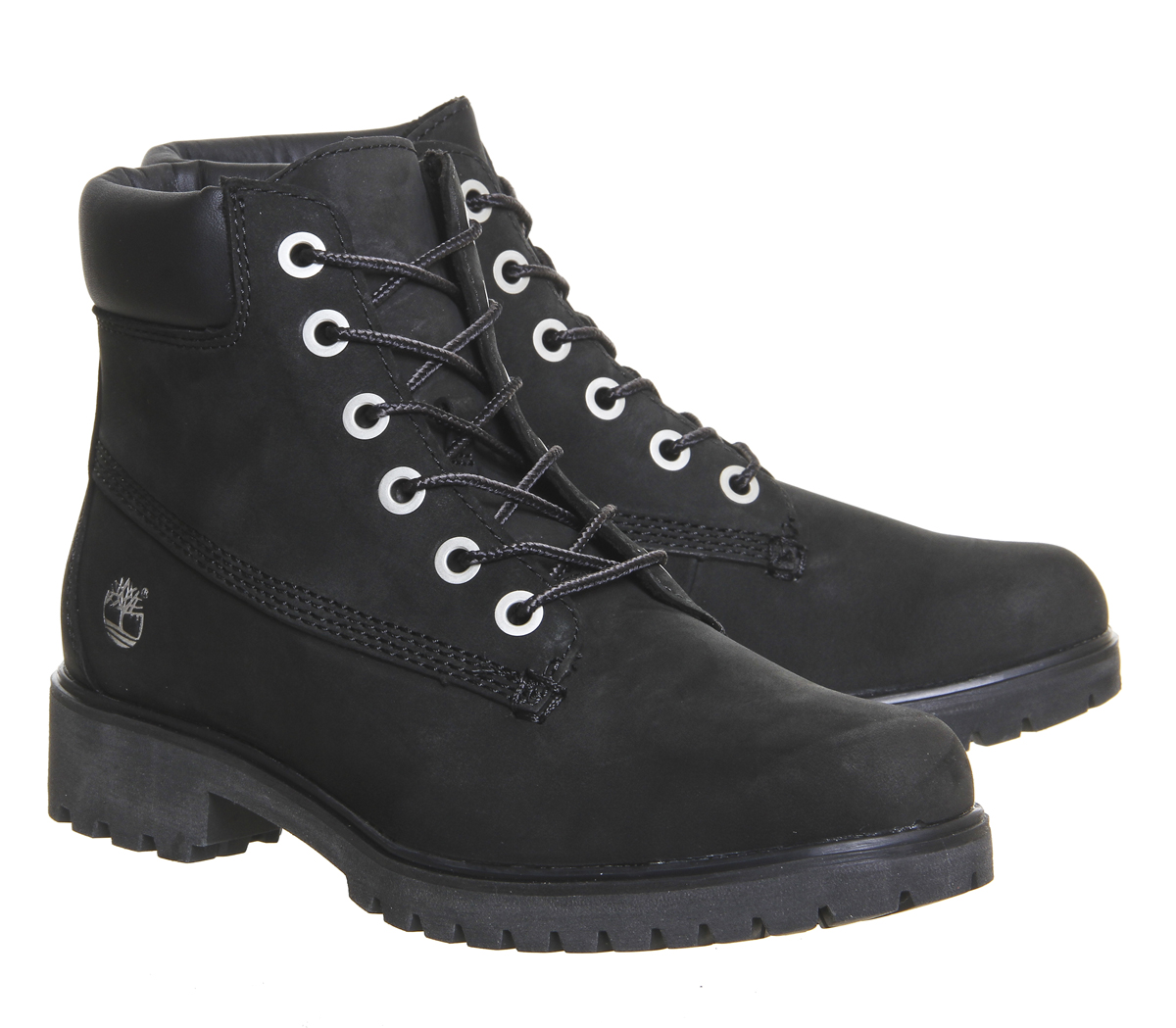 Details about Womens Timberland Slim Premium 6 Inch Boots Black Nubuck