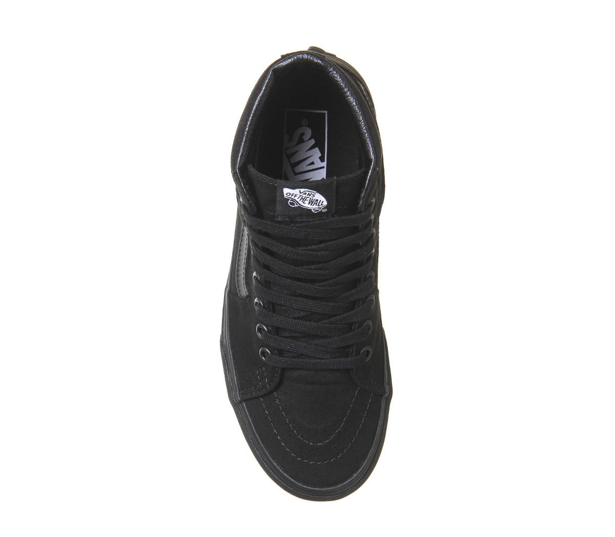 cc06c2bc919 Womens-Vans-Sk8-Hi-Black-Mono-Trainers-Shoes thumbnail