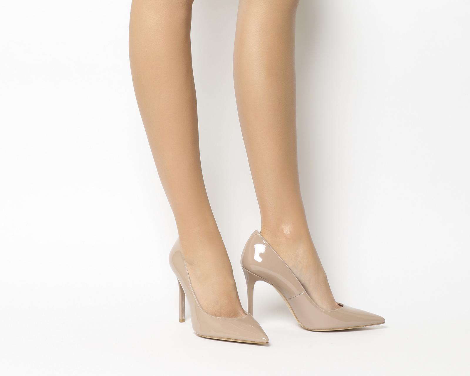 38da4e54dca Details about Womens Office Hattie Point Court Heels Nude Patent Heels