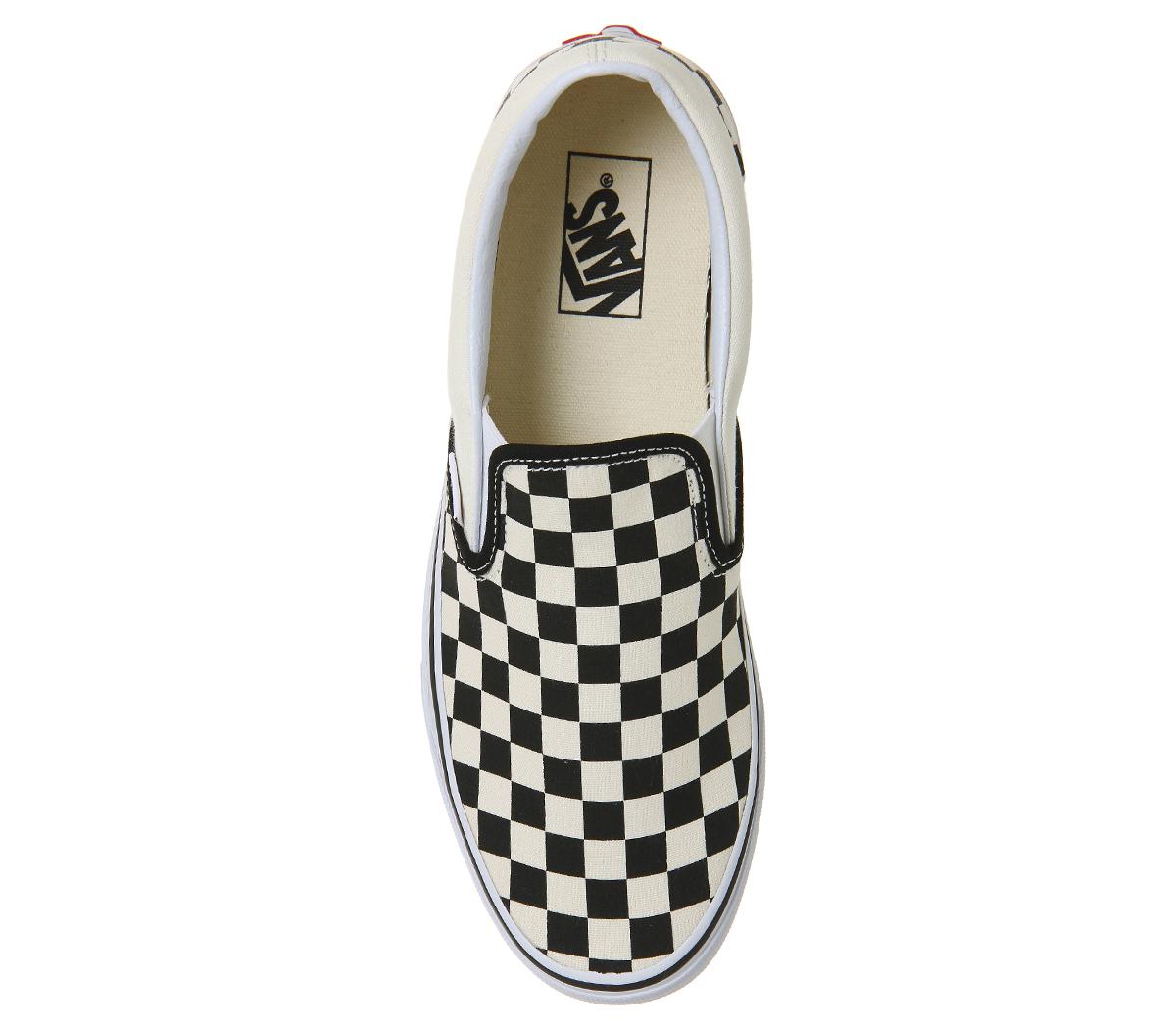 Slip On et Mens Classic à Vans noirs blancs carreaux Chaussures Trainers HWtWaExUn