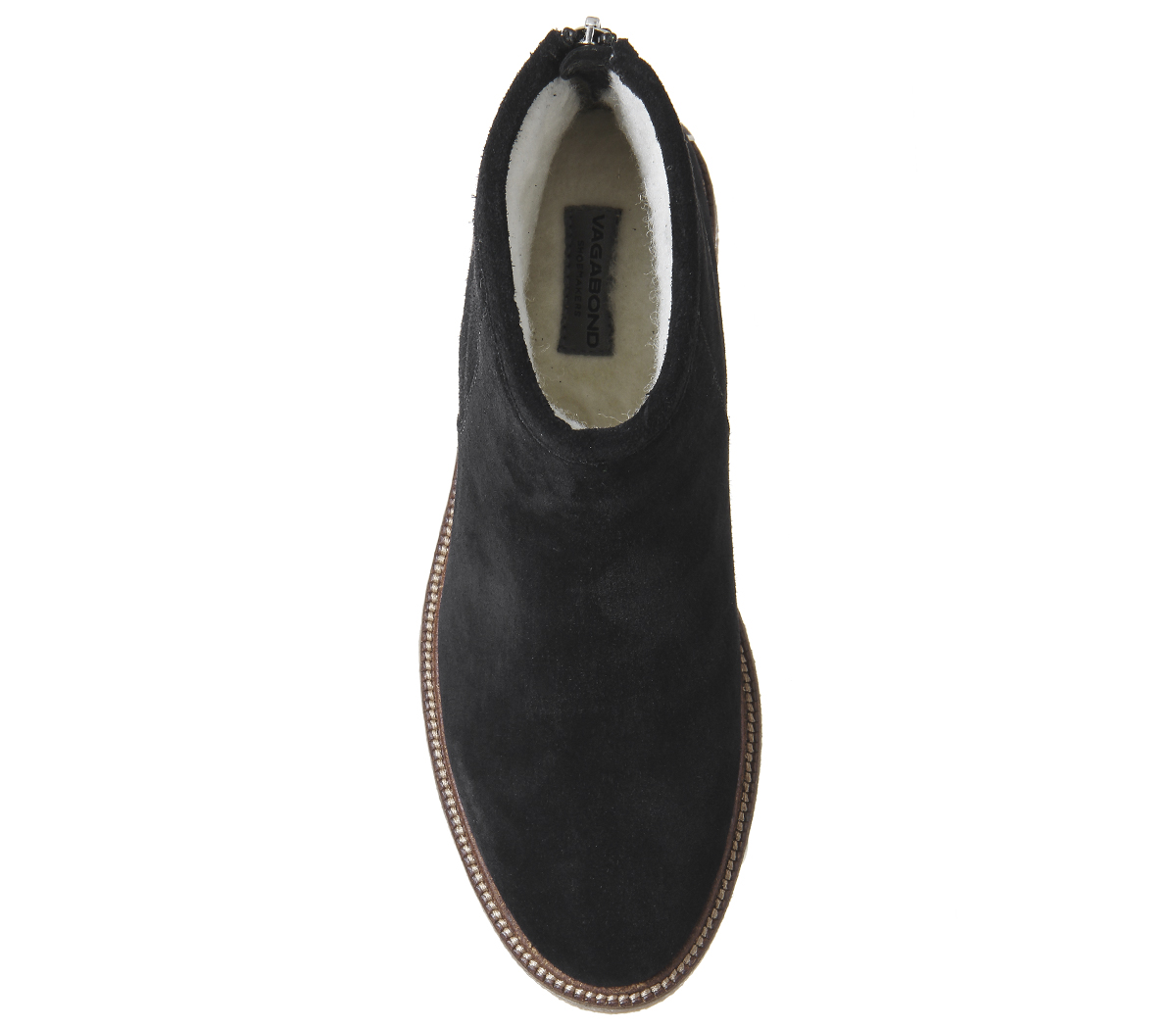 Damenschuhe Niedrig Vagabond Christy Niedrig Damenschuhe Stiefel BLACK SUEDE Stiefel ebe072