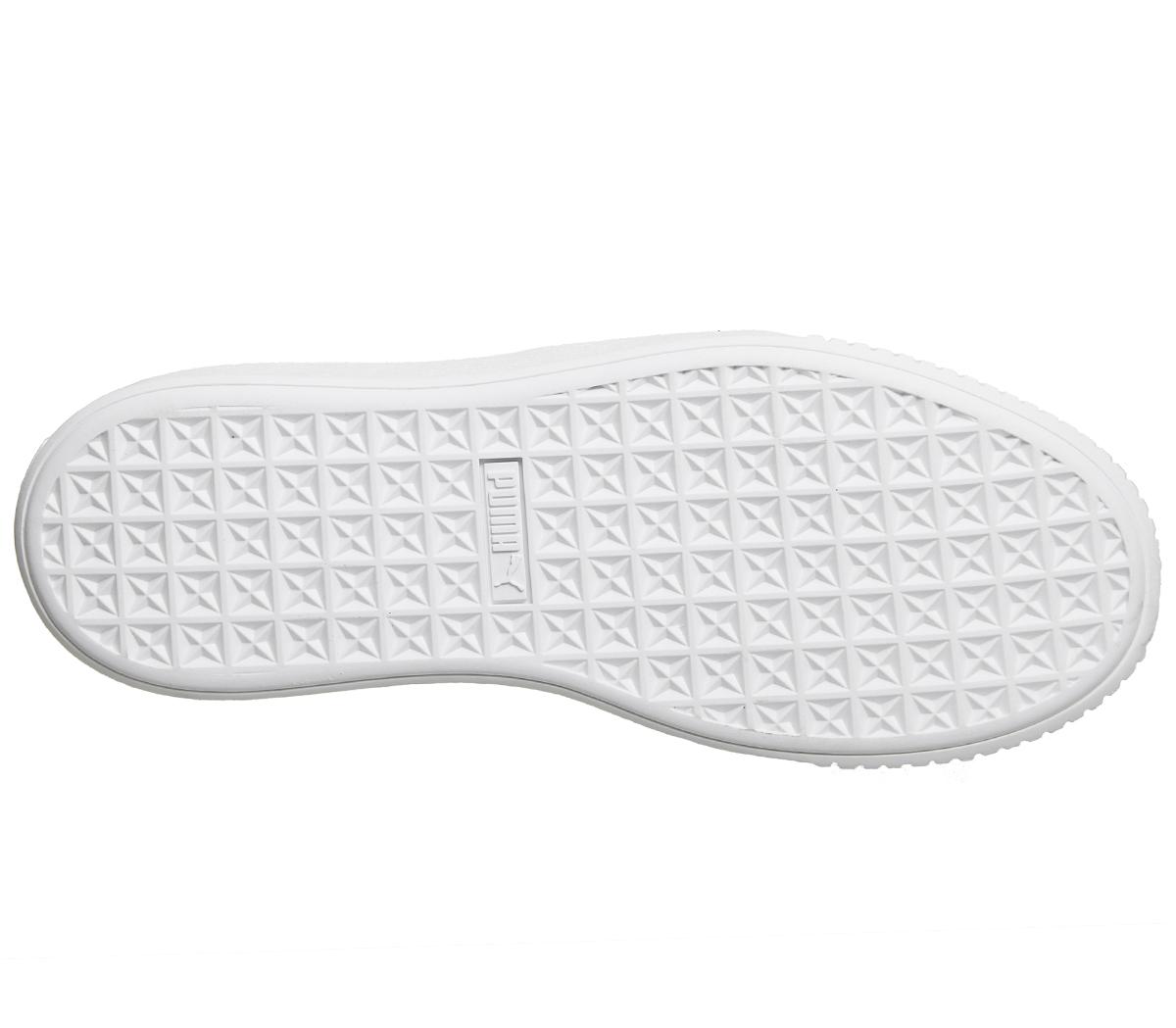 Femme Puma Basket Platform Trainers chaussures GOLD GLITTER blanc Trainers chaussures Trainers 5e004c