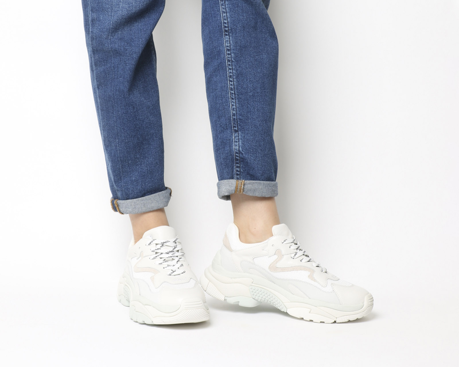 7200c85a9d83b Sentinel Womens Ash Addict Sneakers White Off White Trainers Shoes