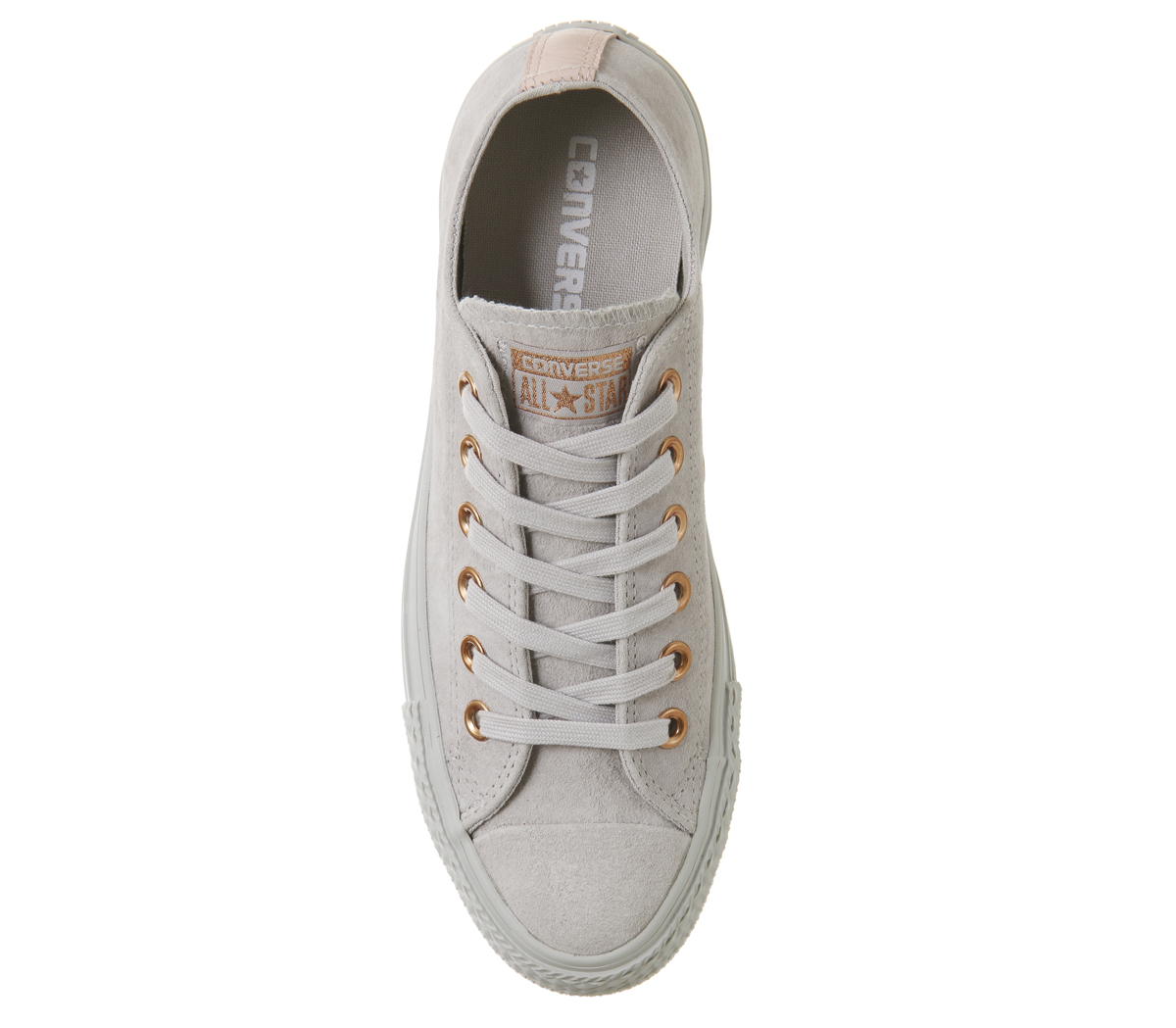 990ad3f8df8 Sentinel Womens Converse All Star Low Leather Trainers MOUSE VAPOUR PINK  EXCLUSIVE Traine